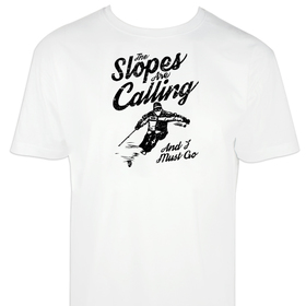 Camiseta hombre The slopes are calling personalizable