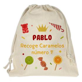 Bolsa caramelos Navidad personalizada con tu nombre