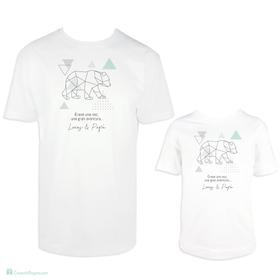Camiseta para padre e hijo Aventura personalizada