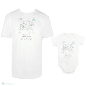 Camiseta y body para padre e hijo Aventura personalizada