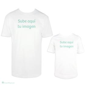 Camiseta para padre e hijo con foto personalizada