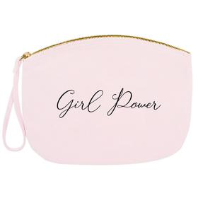 Neceser con correa pequeño texto Girl Power personalizable