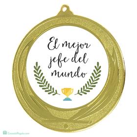 Medalla Mejor jefe personalizada