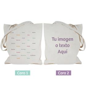 Bolsa asas largas personalizable ambas caras Nombres e Imagen texto