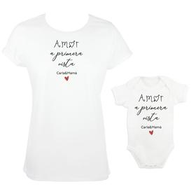 Camiseta y body para madre e hijos Amor a primera vista