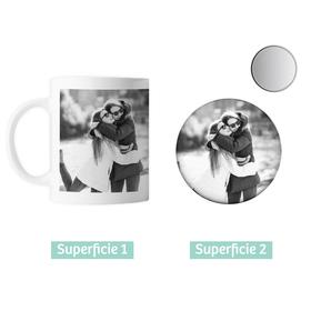 Taza cerámica y espejo personalizados