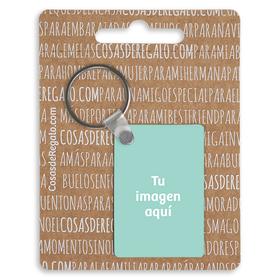 Llavero de madera rectangular personalizado