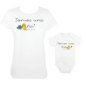 Camiseta y body para madre e hijos Somos una Piña