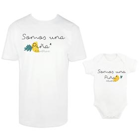 Camiseta y body para padre e hijo Somos una Piña