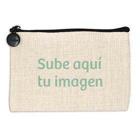 Monedero símil lino personalizado con una foto