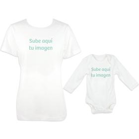 Camiseta básica mujer y body manga larga personalizados
