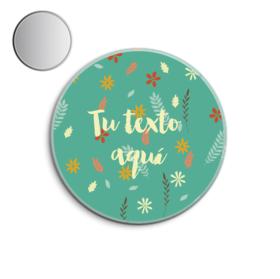 Espejo de bolsillo original de 5.8cm personalizable Hojas&flores