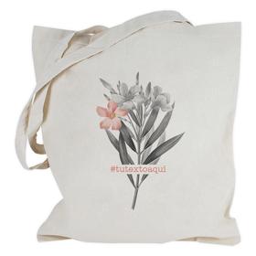 Bolsa con asas largas Flores personalizable