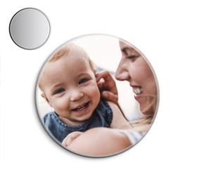 Espejo de bolsillo original de 5.8cm personalizable con tu foto