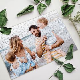 Puzzle de cartón A4 de 192 piezas personalizado con foto