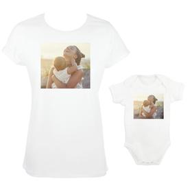 Camiseta y body para madre e hija con imagen personalizada
