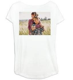 Camiseta mujer amplia de escote redondo con imagen personalizada