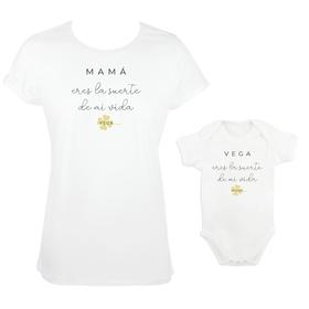 Camiseta y body para madre e hija Eres la suerte de mi vida