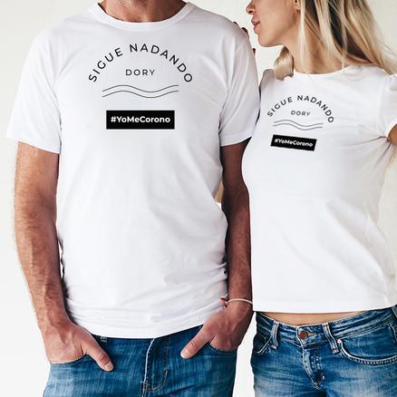 Camiseta doble #YoMeCorono para chico y chica