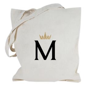 Bolsa con asas largas Inicial&Corona personalizable