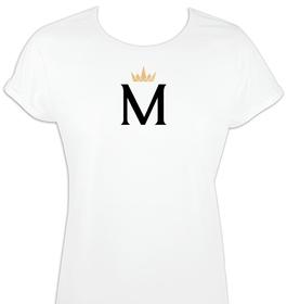 Camiseta mujer mangas enrolladas Inicial&Corona