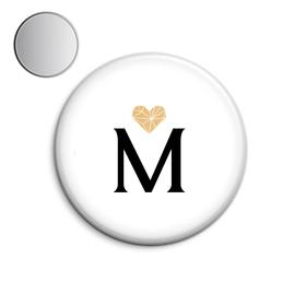 Espejo de bolsillo original de 5.8cm personalizable Inicial&Corazón