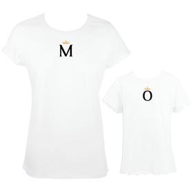 Camisetas madre e hija Inicial&Corona personalizadas