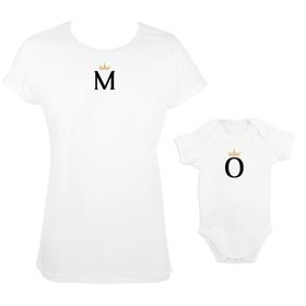 Camiseta y body para madre e hija Inicial&Corona