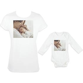 Camiseta mujer y body manga larga con imagen personalizada