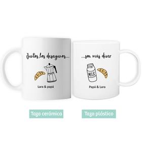 Taza doble cerámica&plástico Desayunos diver
