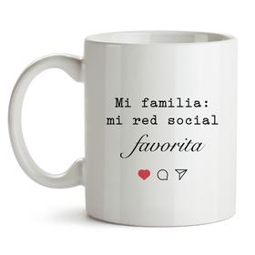 Taza personalizada Mi familia, mi red social favorita