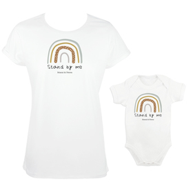 Camiseta y body para madre e hijos Stand by me
