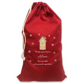 Saco rojo de Navidad personalizado