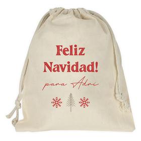 Bolsa para regalo Feliz Navidad personalizada